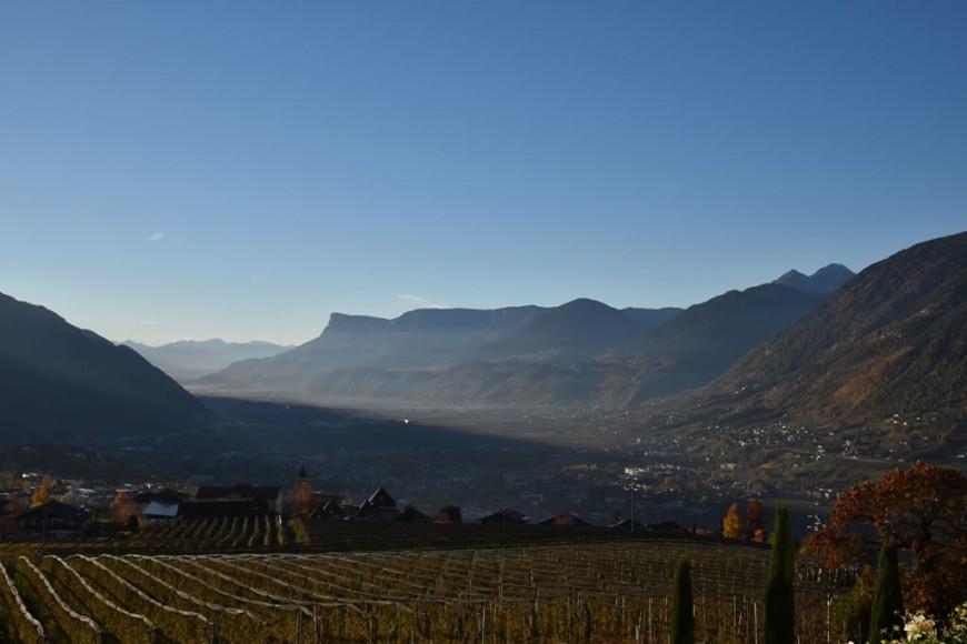 vista dall'Hotel Patrizia a Tirolo