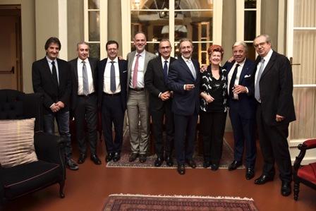 da sinistra Sergio Antonini, Valerio Mearini, Orazio Vagnozzi, Stefano Azzolari, Marco Maffei, Roberto Schneuwly, Annie Feolde, Paolo Baracchino, Maruzio Tarquini