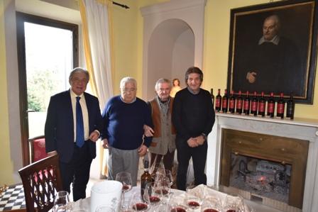 da sinistra Paolo Baracchino, Porf Ennio Polito, Bruno Rossini, Sergio Antonini