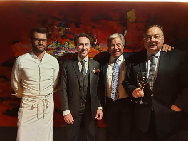 da sinistra Enrico Bartolini, Benoit Maillard, Paolo Baracchino, Christian Roger
